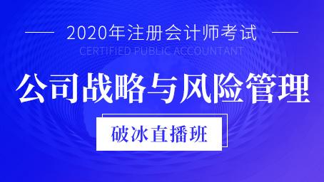2020年注会战略与风险管理破冰班第一讲